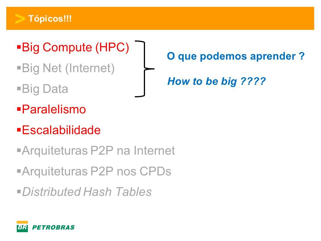 Arquiteturas P2P na Internet Arquiteturas P2P nos CPDs