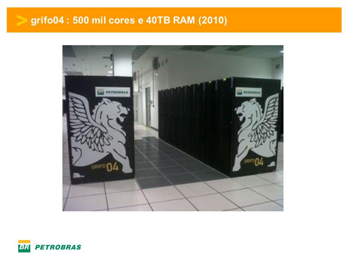 grifo04 : 500 mil cores e 40TB RAM (2010)