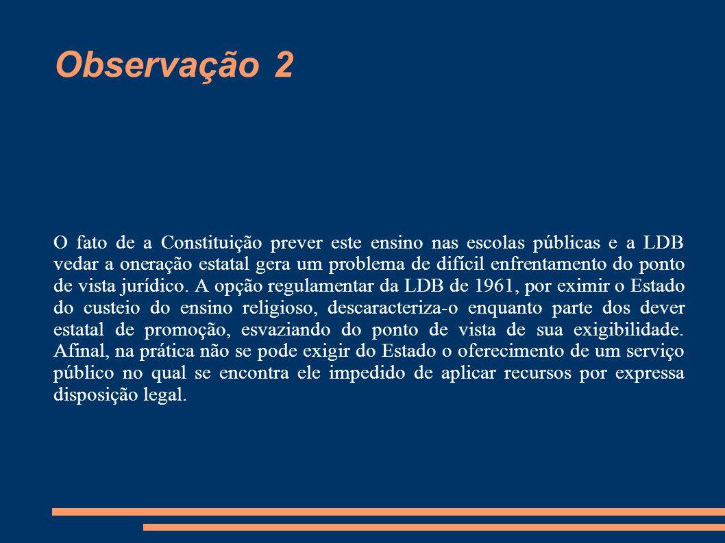 Observação 2