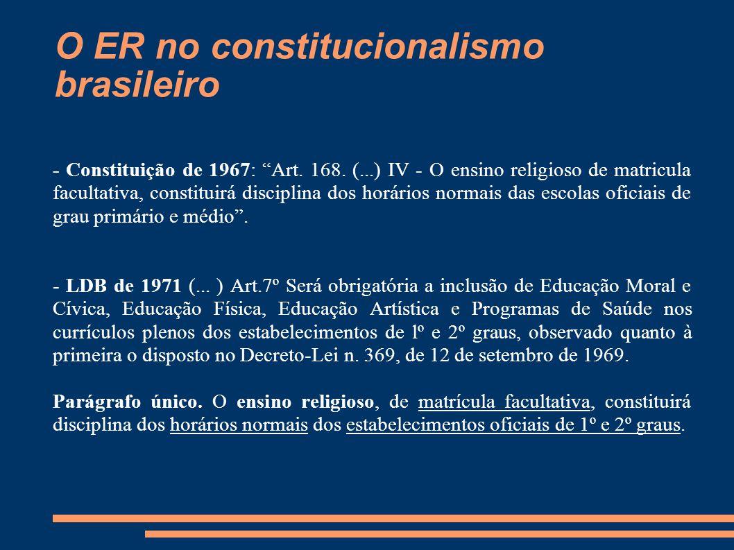 O ER no constitucionalismo brasileiro