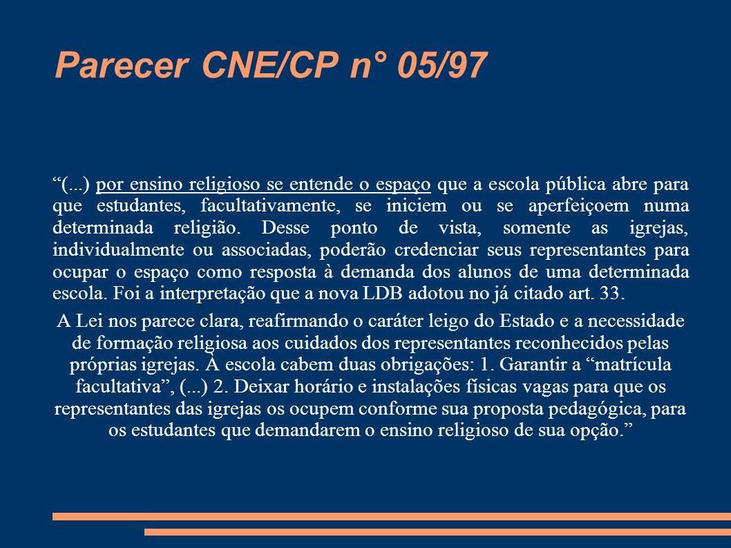 Parecer CNE/CP n° 05/97
