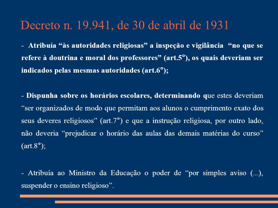 Decreto n. 19.941, de 30 de abril de 1931
