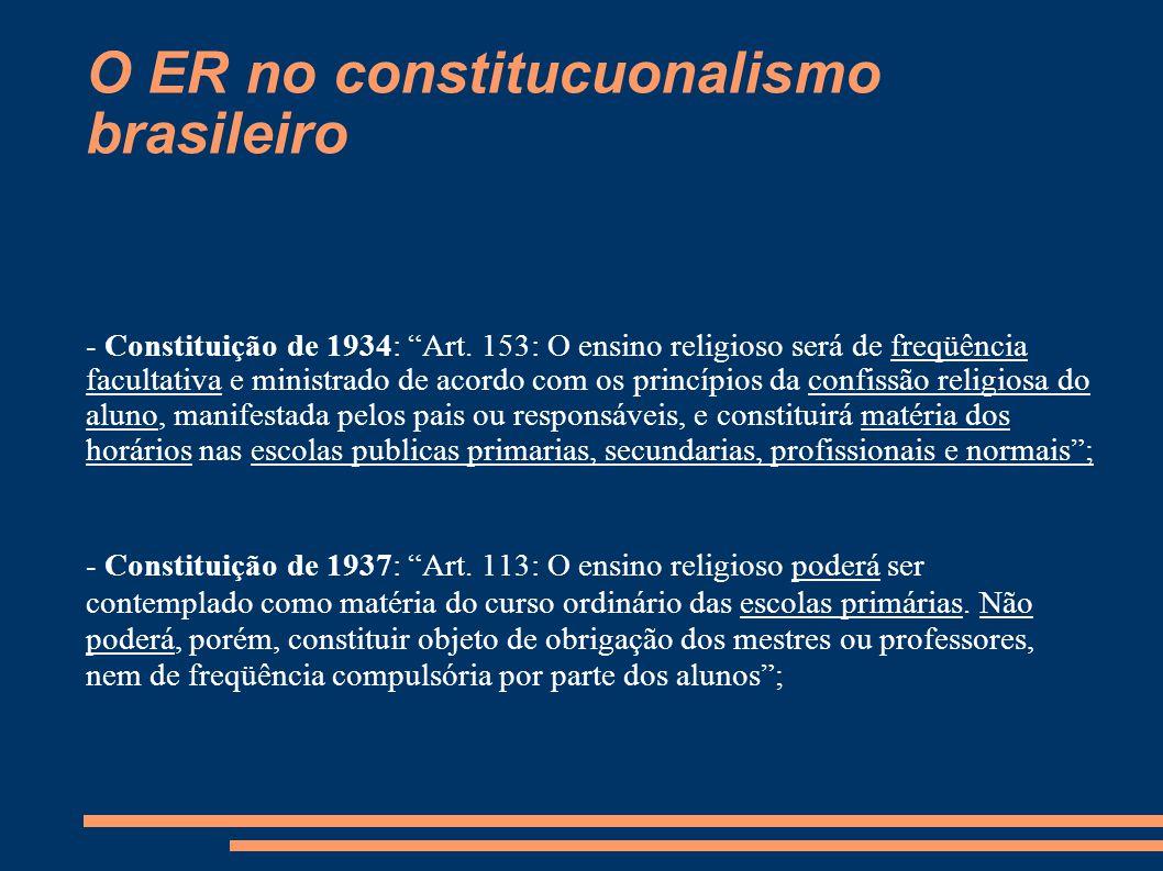 O ER no constitucuonalismo brasileiro
