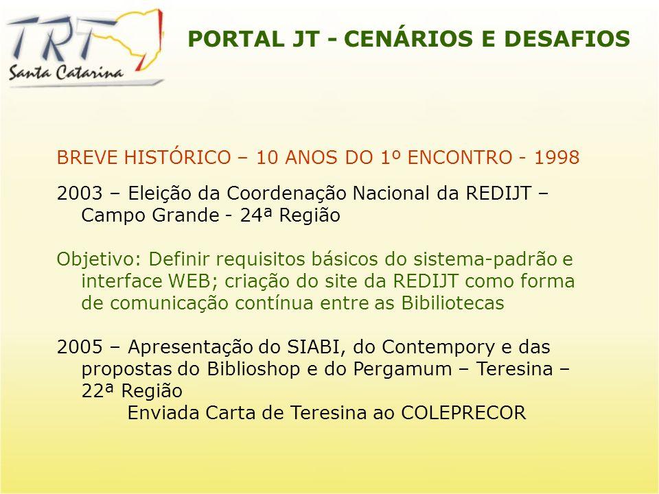 PORTAL JT - CENÁRIOS E DESAFIOS