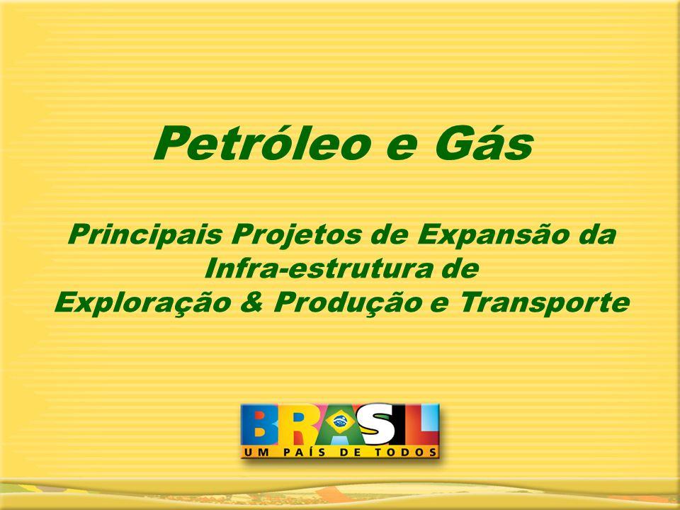 Petróleo e Gás Principais Projetos de Expansão da Infra-estrutura de