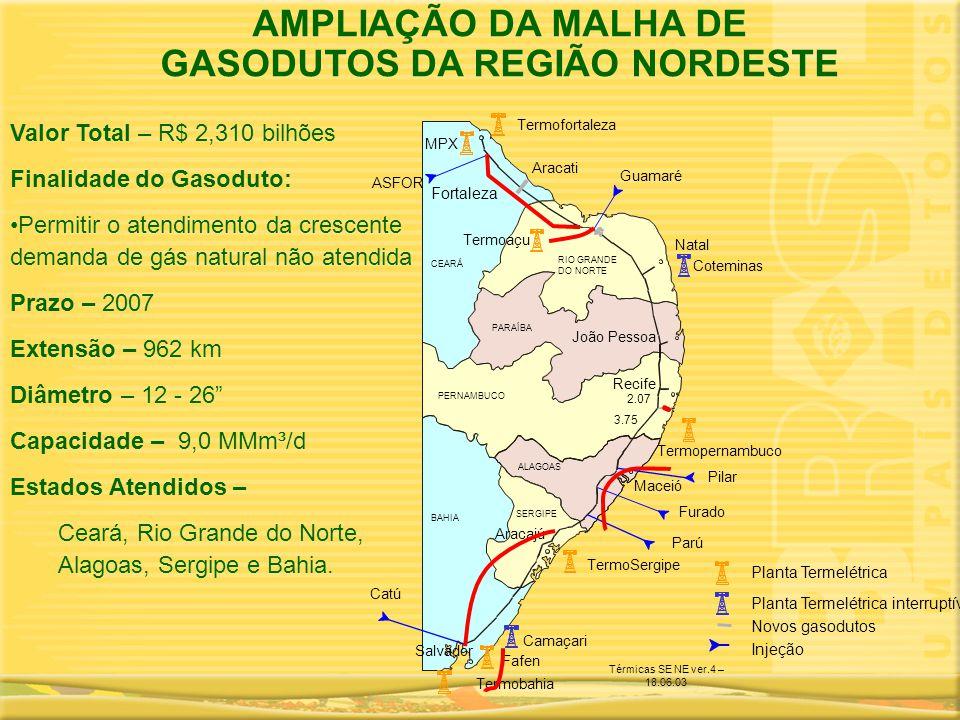 GASODUTOS DA REGIÃO NORDESTE