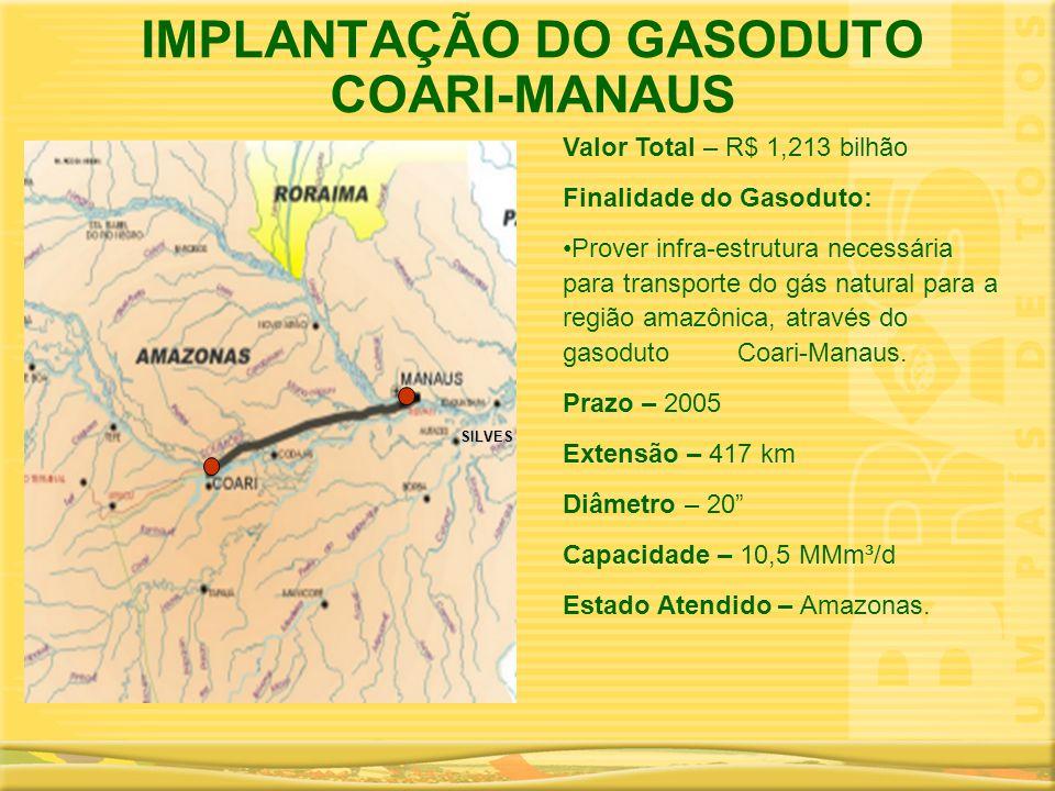 IMPLANTAÇÃO DO GASODUTO COARI-MANAUS