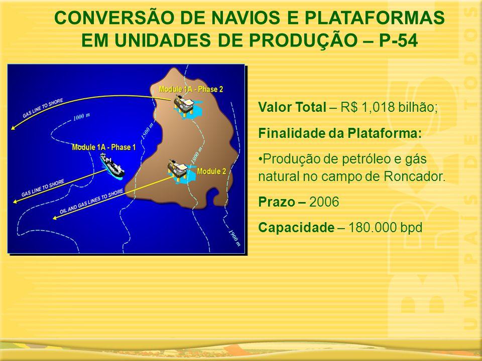 CONVERSÃO DE NAVIOS E PLATAFORMAS EM UNIDADES DE PRODUÇÃO – P-54