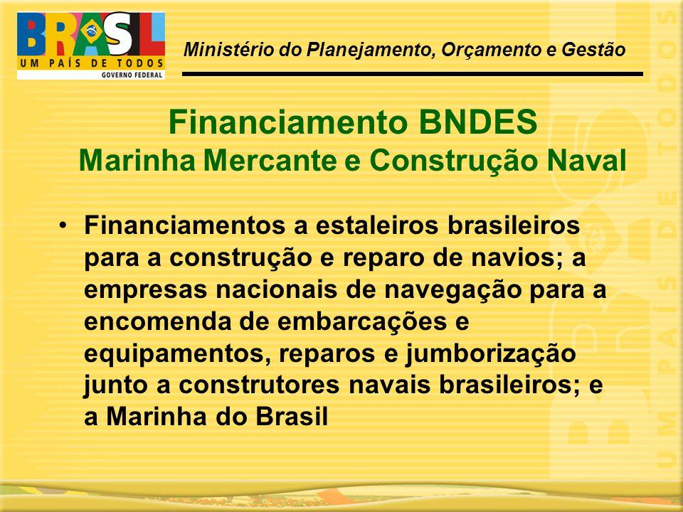 Financiamento BNDES Marinha Mercante e Construção Naval