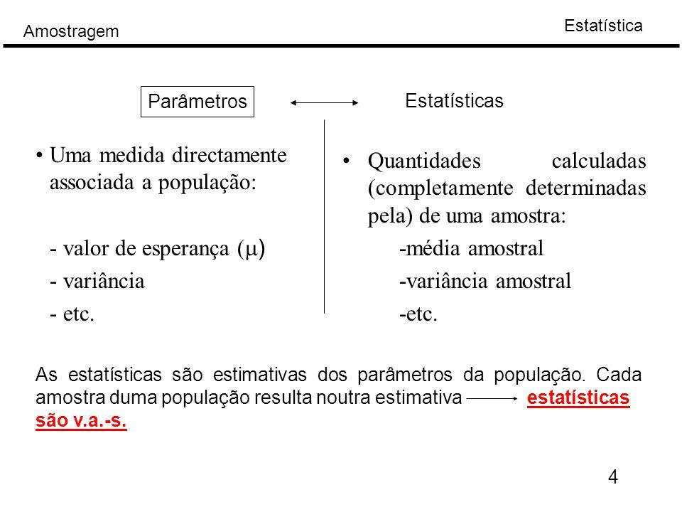 Uma medida directamente associada a população: