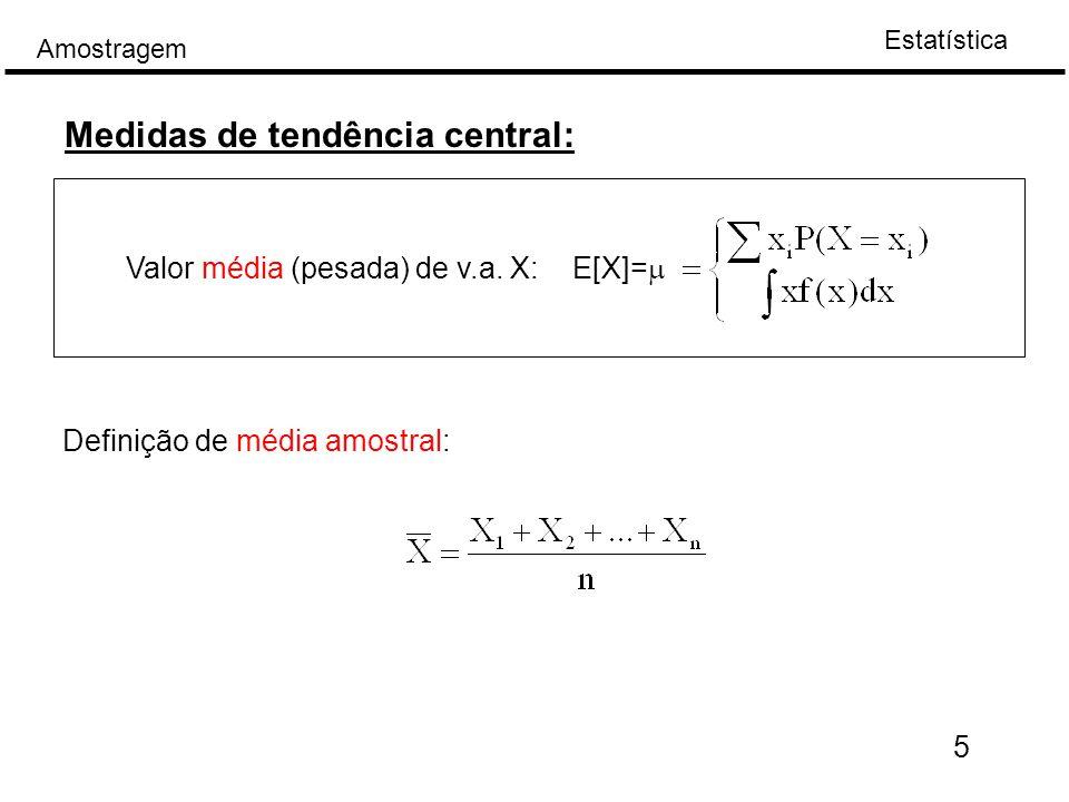 Medidas de tendência central: