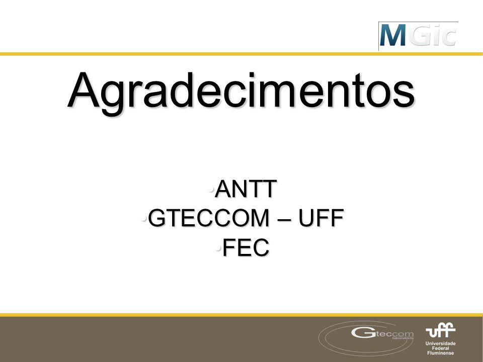 Agradecimentos ANTT GTECCOM – UFF FEC