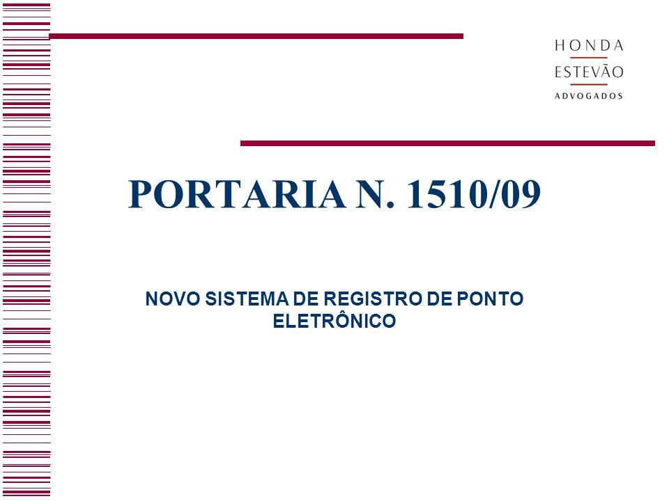 NOVO SISTEMA DE REGISTRO DE PONTO ELETRÔNICO