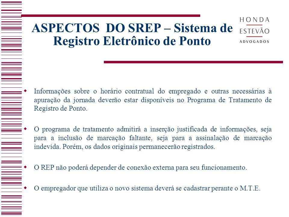 ASPECTOS DO SREP – Sistema de Registro Eletrônico de Ponto