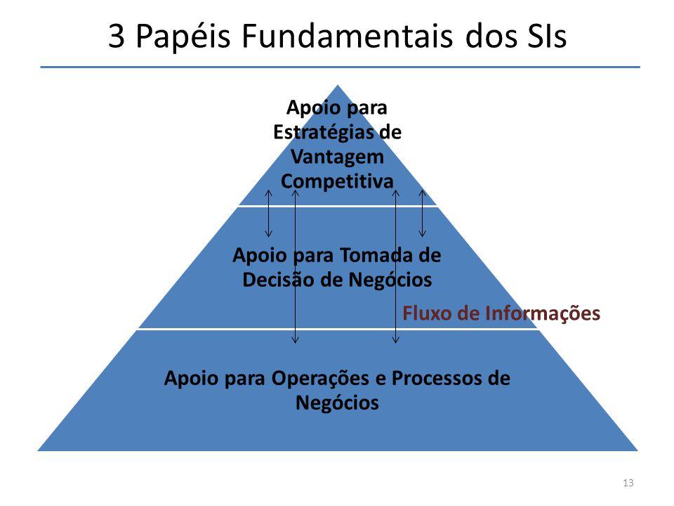 3 Papéis Fundamentais dos SIs