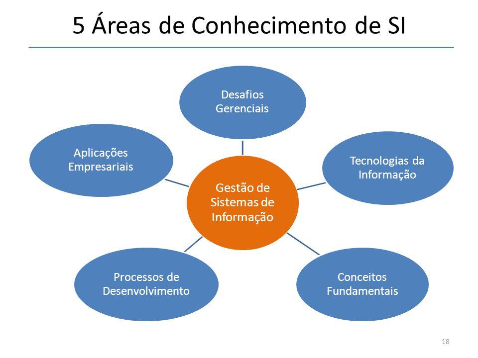 5 Áreas de Conhecimento de SI