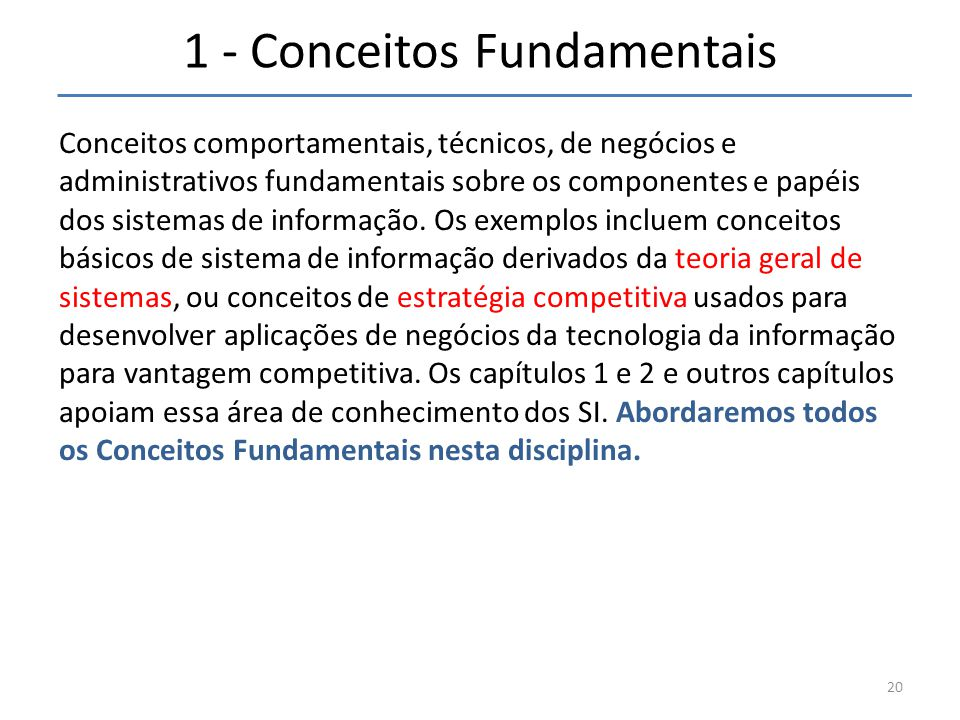1 - Conceitos Fundamentais