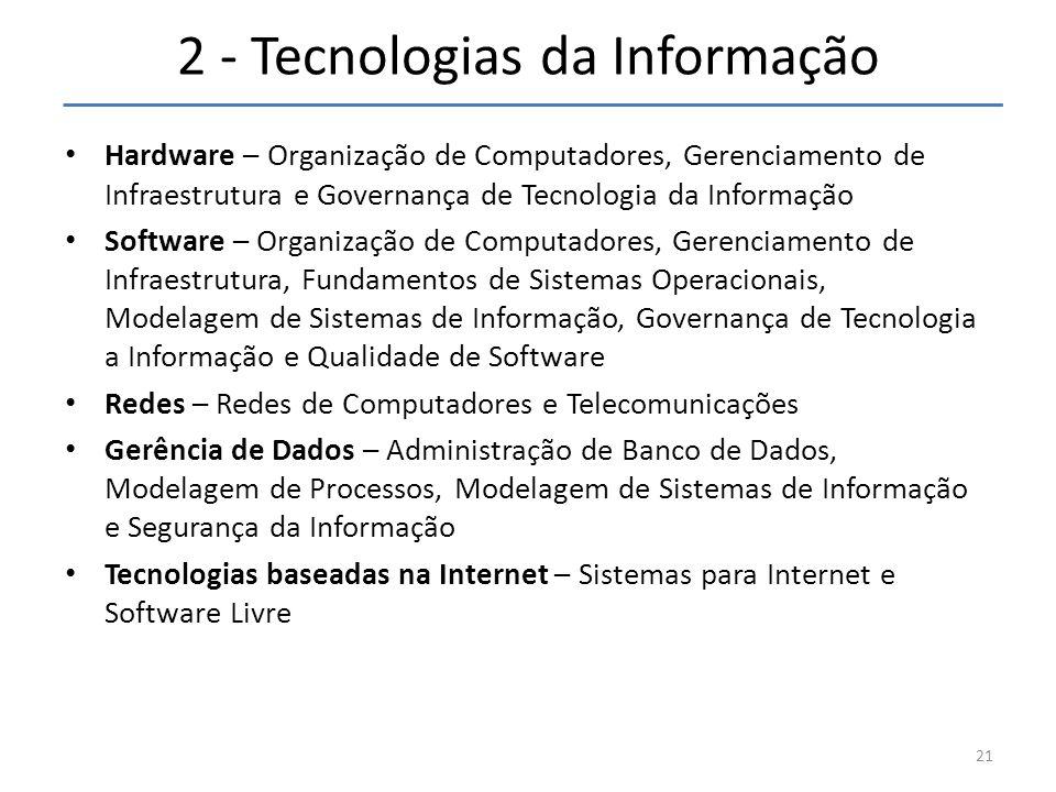 2 - Tecnologias da Informação
