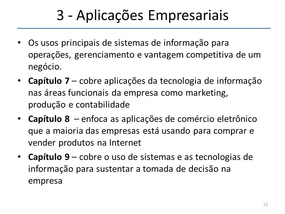 3 - Aplicações Empresariais