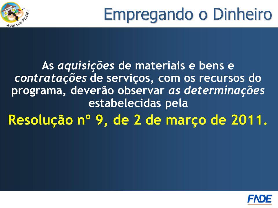 Resolução nº 9, de 2 de março de 2011.