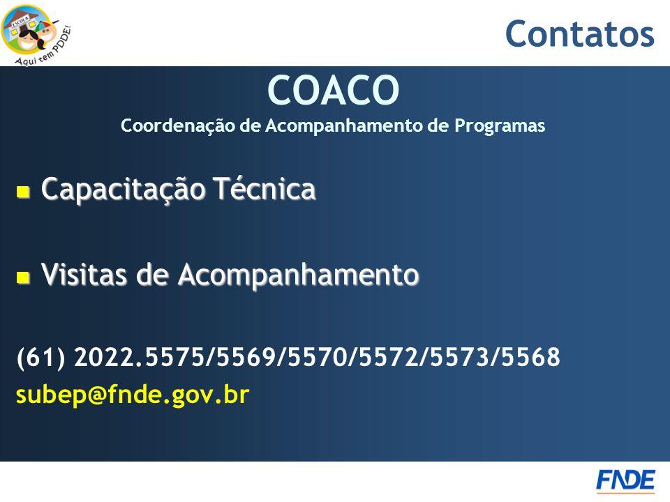 COACO Coordenação de Acompanhamento de Programas