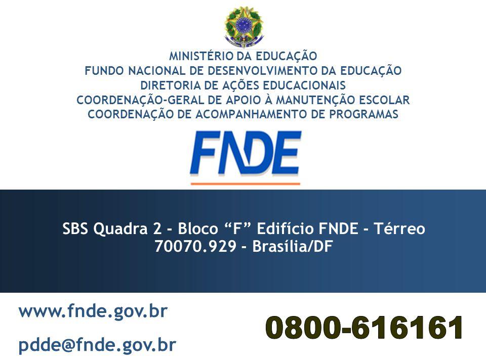 SBS Quadra 2 - Bloco F Edifício FNDE - Térreo