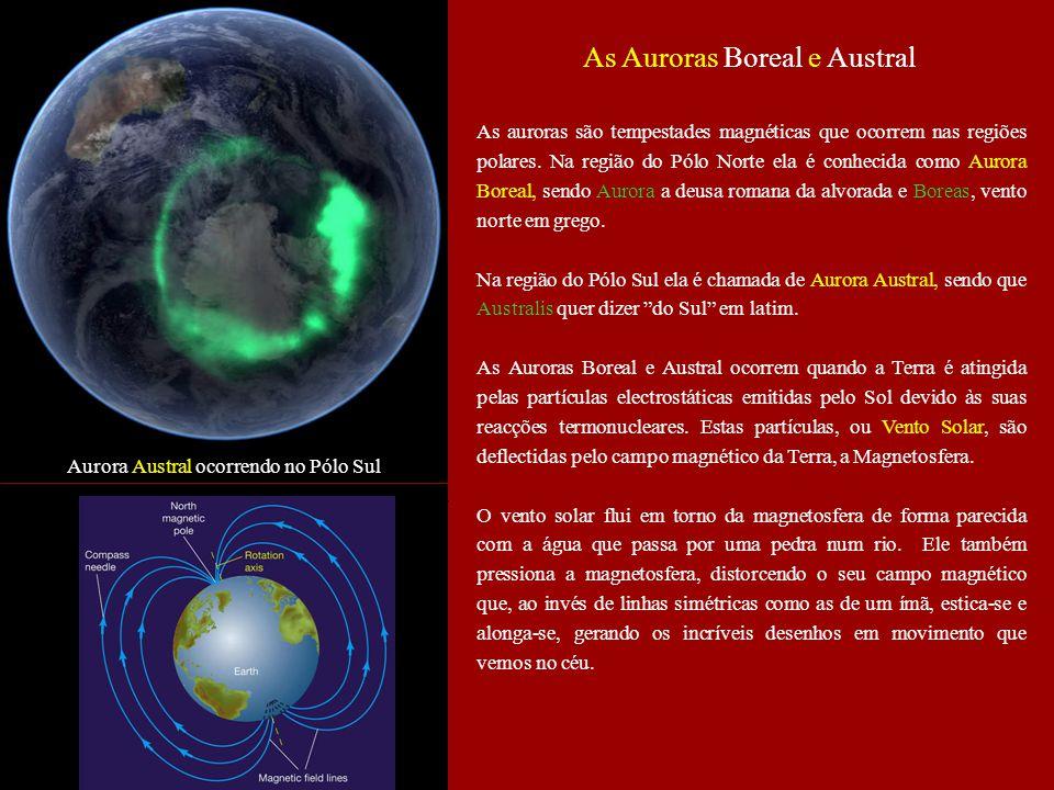 As Auroras Boreal e Austral