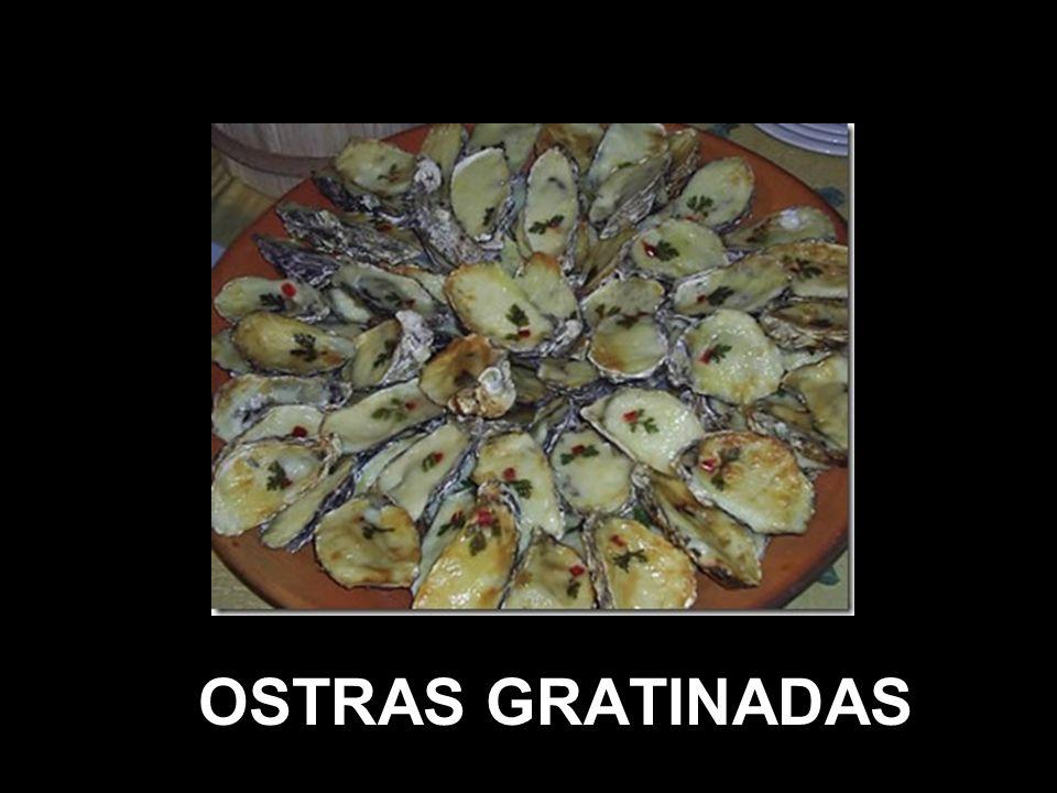 OSTRAS GRATINADAS