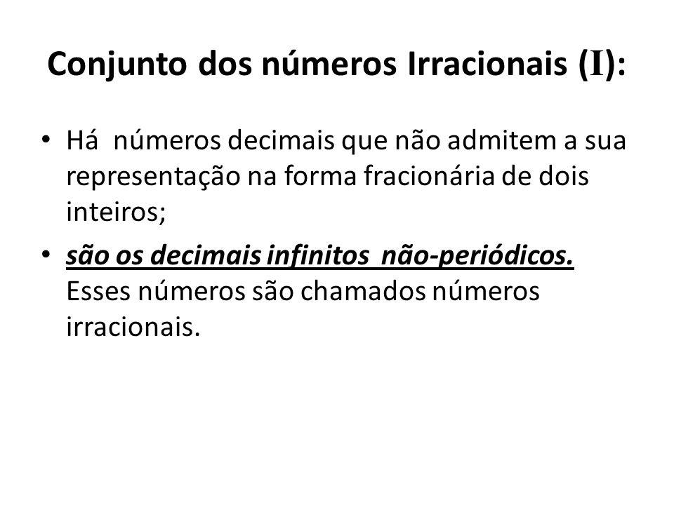 Conjunto dos números Irracionais (I):