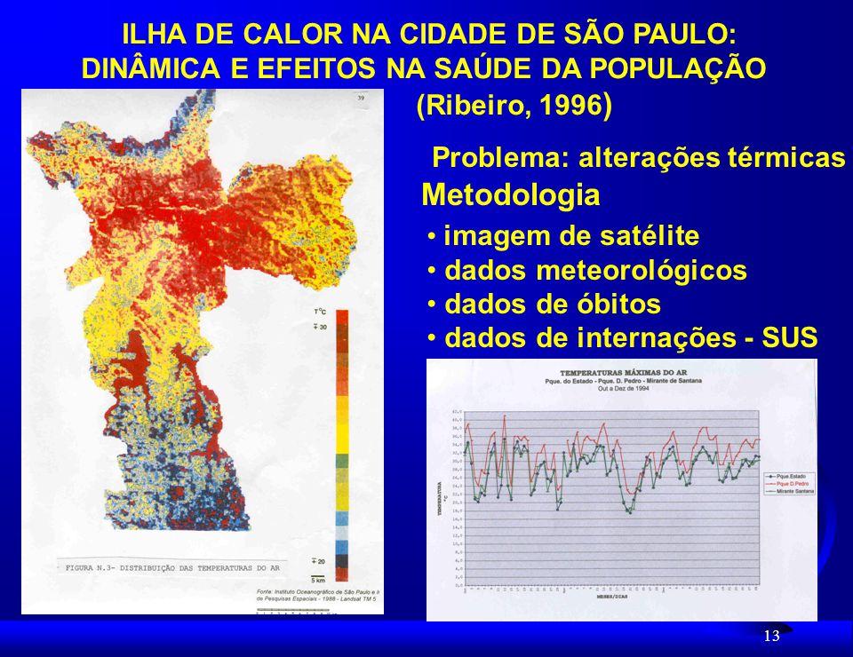 Metodologia ILHA DE CALOR NA CIDADE DE SÃO PAULO: