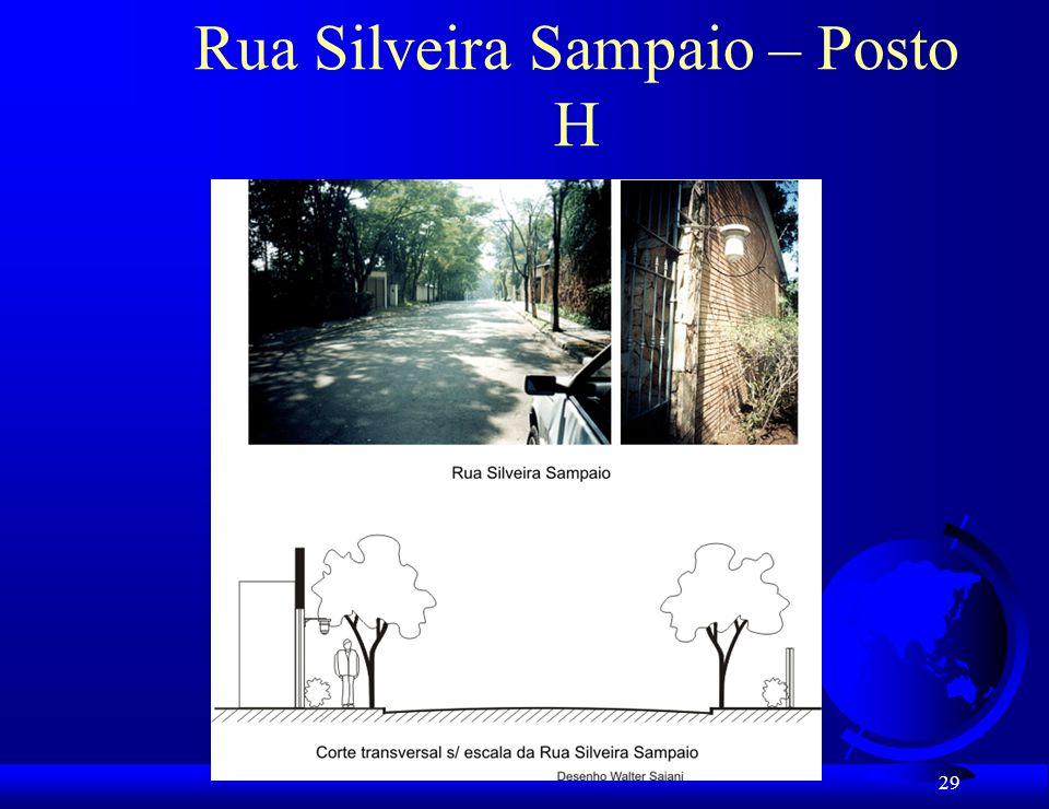 Rua Silveira Sampaio – Posto H