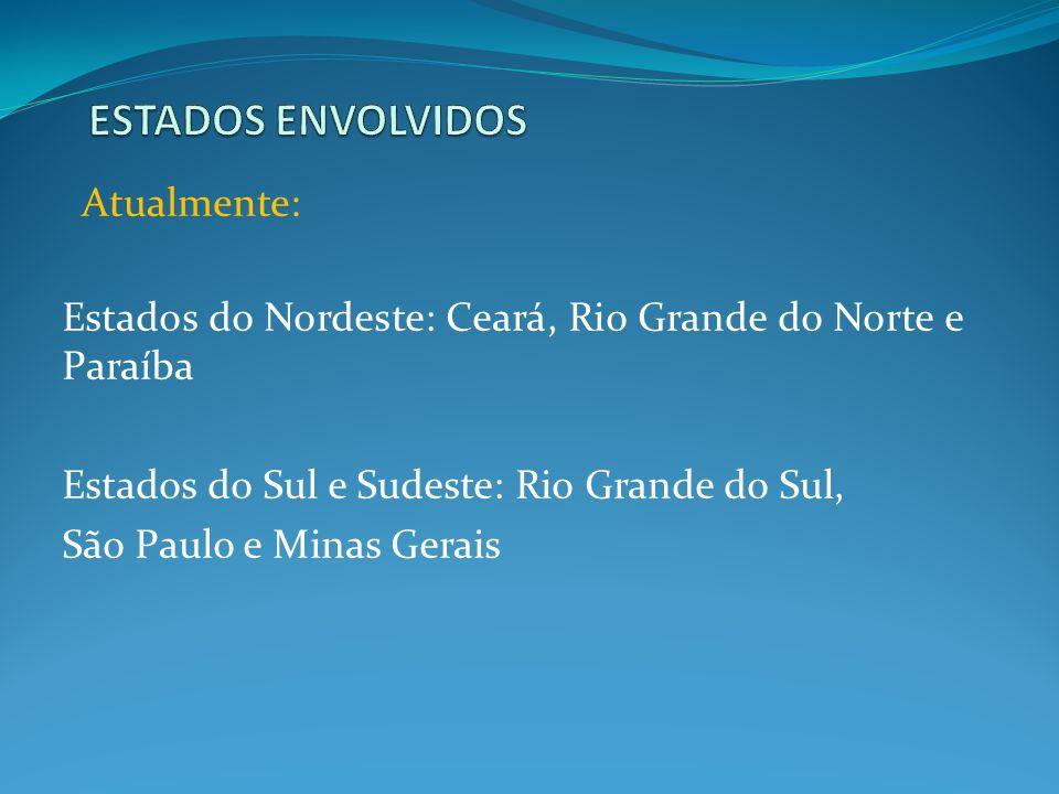 Estados do Nordeste: Ceará, Rio Grande do Norte e Paraíba