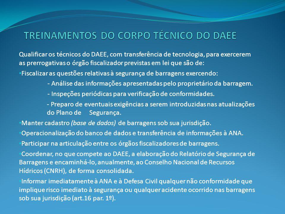 Treinamentos do corpo técnico do DAEE