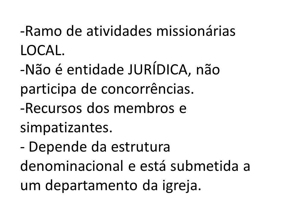Ramo de atividades missionárias LOCAL.