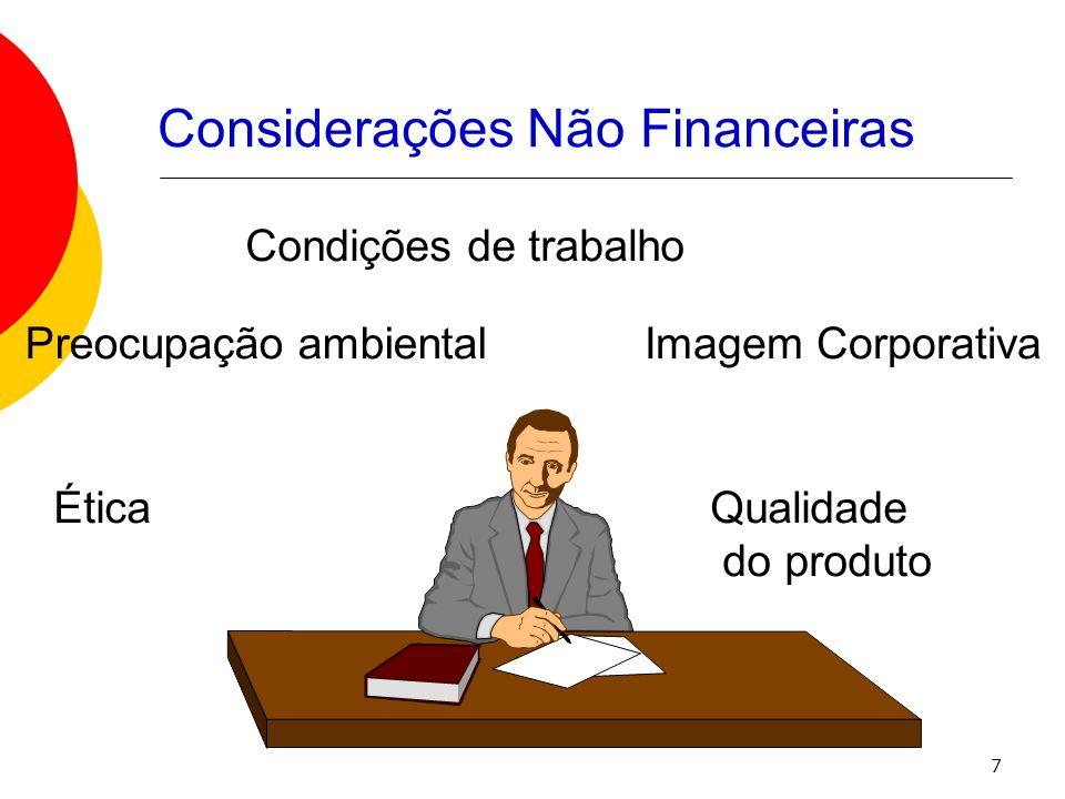 Considerações Não Financeiras