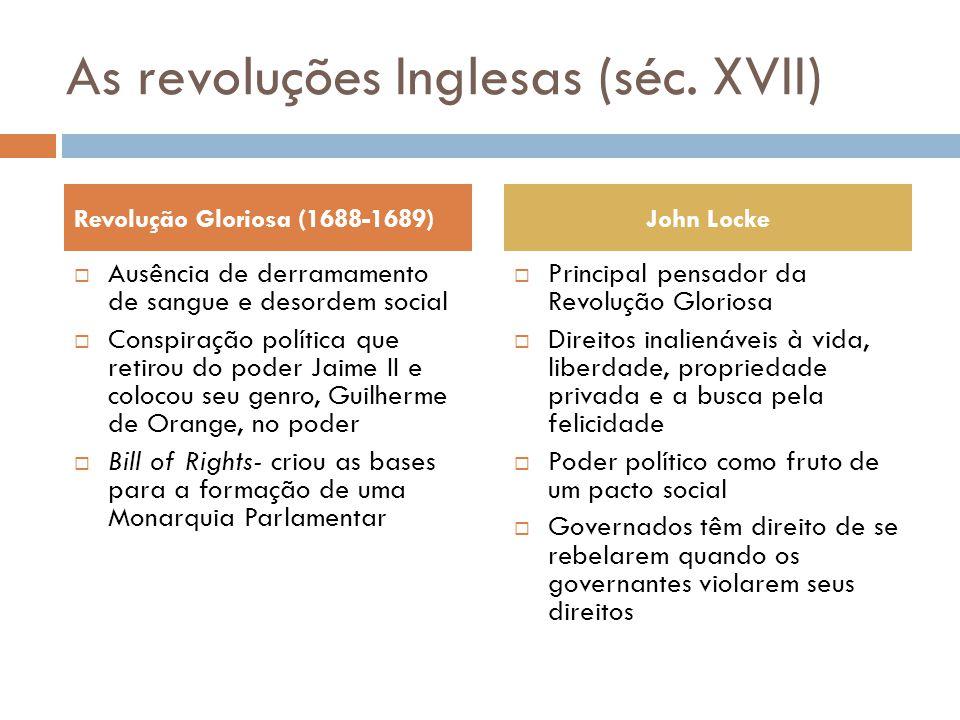 As revoluções Inglesas (séc. XVII)