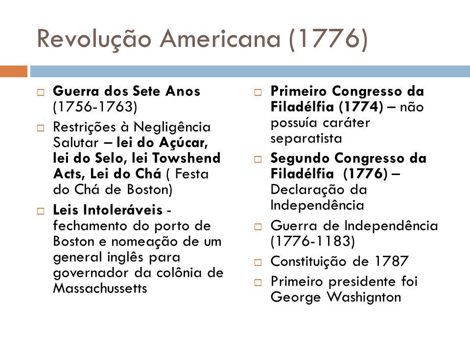 Revolução Americana (1776)