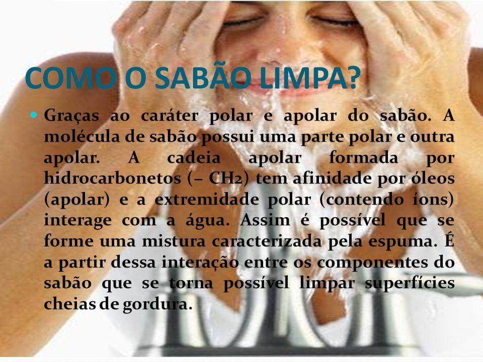 COMO O SABÃO LIMPA