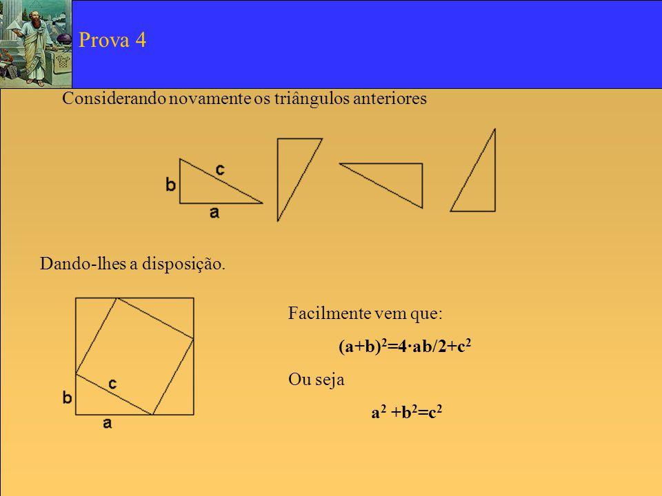Prova 4 Considerando novamente os triângulos anteriores