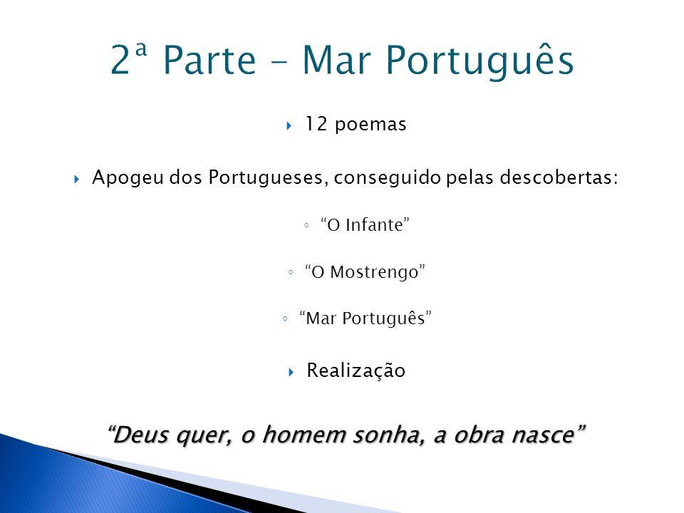 2ª Parte – Mar Português Deus quer, o homem sonha, a obra nasce