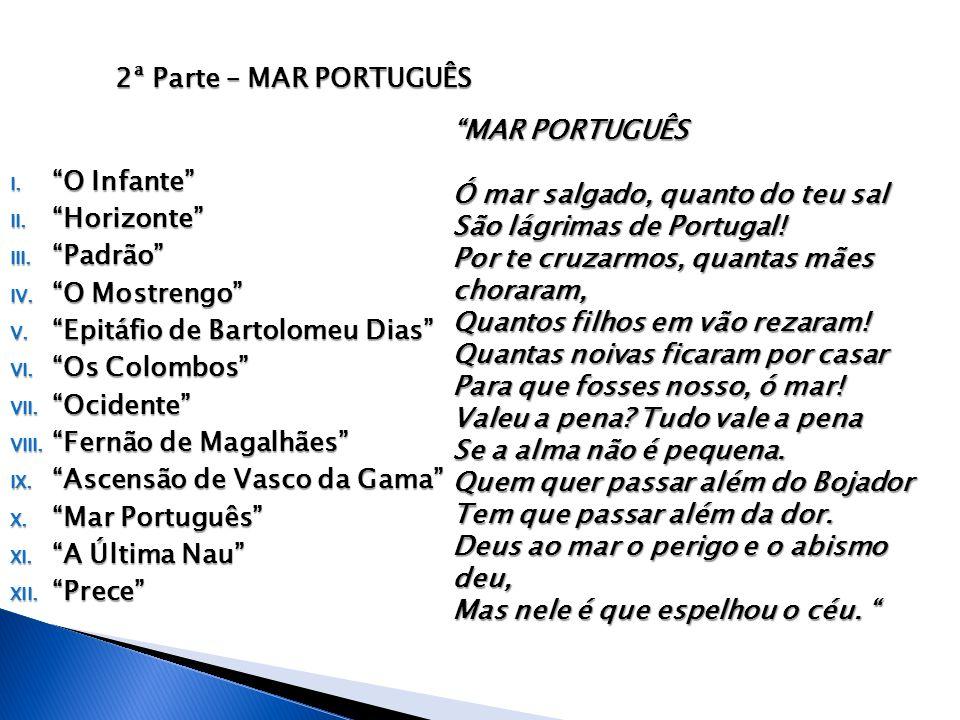 2ª Parte – Mar Português O Infante Horizonte Padrão O Mostrengo Epitáfio de Bartolomeu Dias