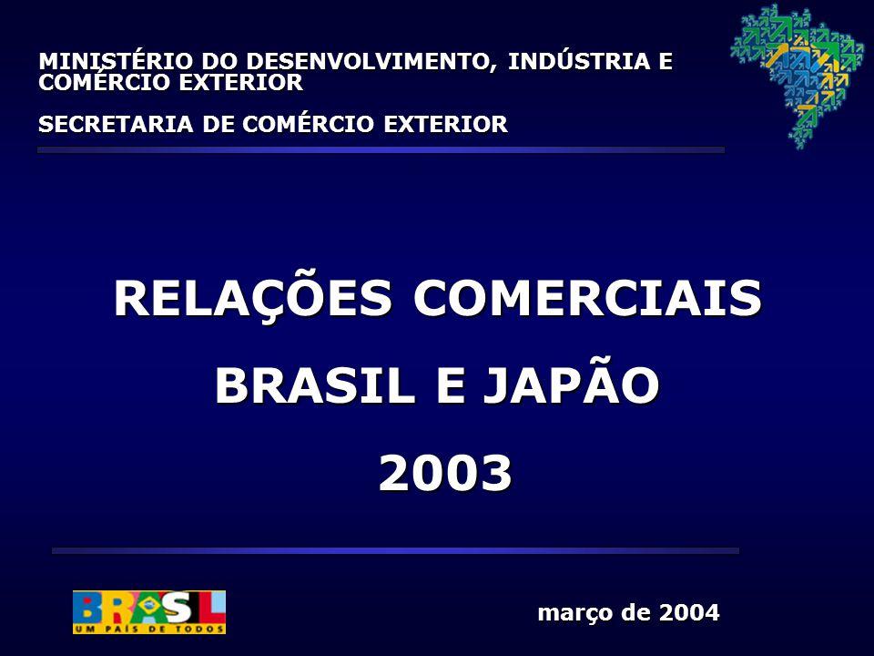 RELAÇÕES COMERCIAIS BRASIL E JAPÃO 2003