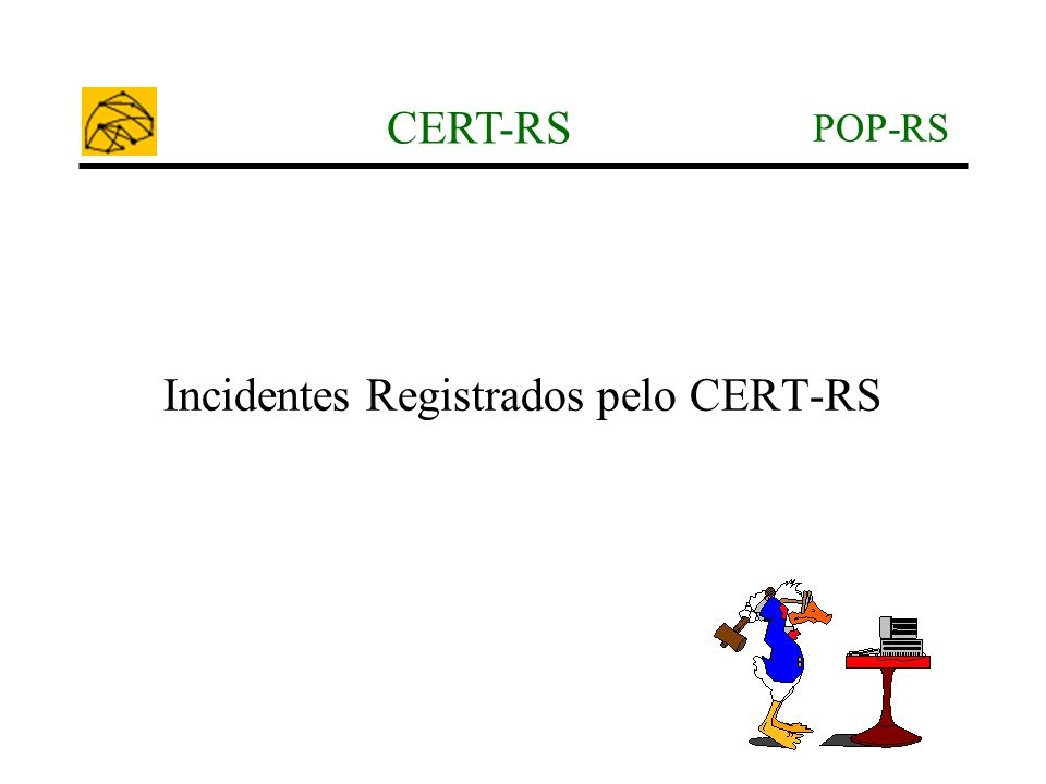 Incidentes Registrados pelo CERT-RS
