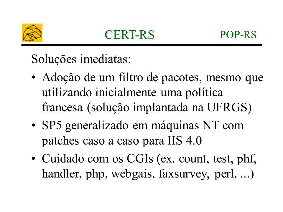 SP5 generalizado em máquinas NT com patches caso a caso para IIS 4.0