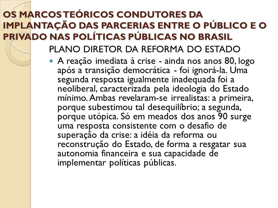 PLANO DIRETOR DA REFORMA DO ESTADO