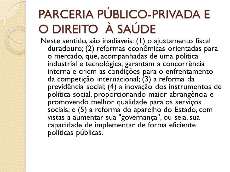 PARCERIA PÚBLICO-PRIVADA E O DIREITO À SAÚDE