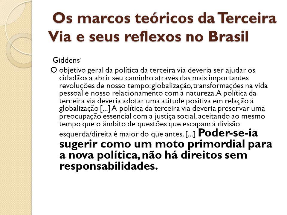 Os marcos teóricos da Terceira Via e seus reflexos no Brasil