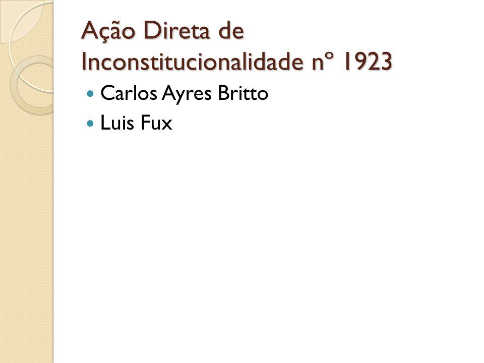 Ação Direta de Inconstitucionalidade nº 1923