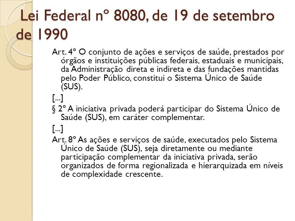 Lei Federal nº 8080, de 19 de setembro de 1990