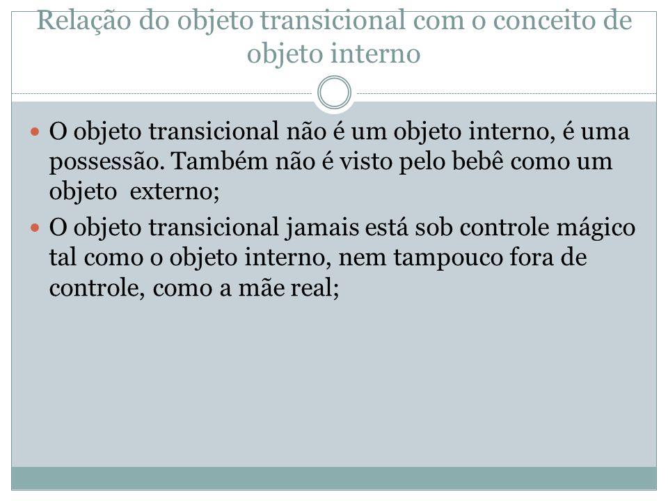 Relação do objeto transicional com o conceito de objeto interno